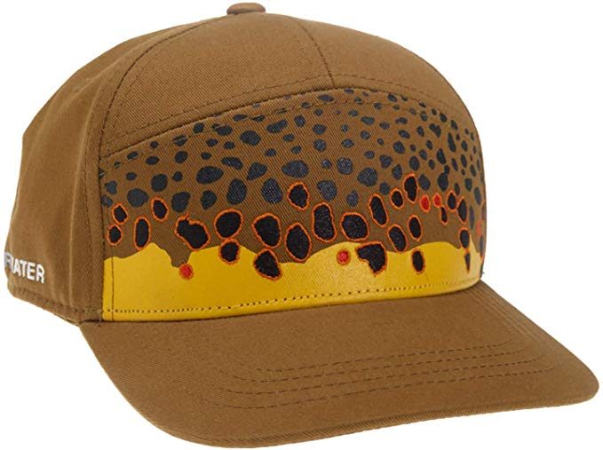 RepYourWater Brown Trout Skin 7 Panel Hat Full Cloth Hat