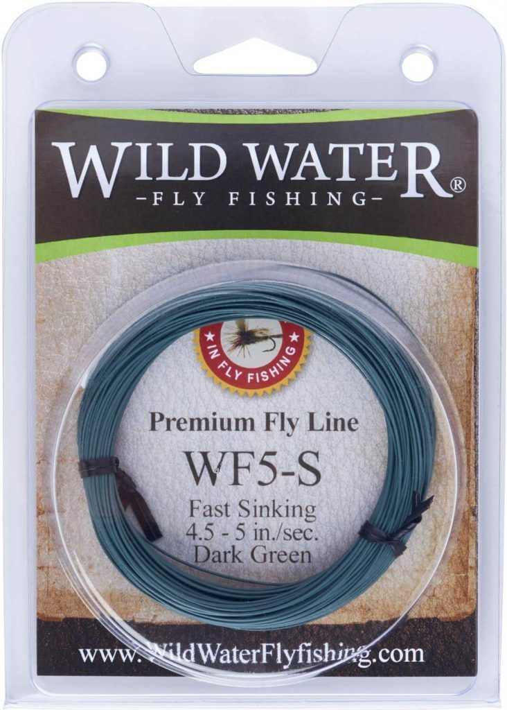 Wild Water Weight Forward 5-Weight Dark Green Fast Sinking Fly Fishing Line