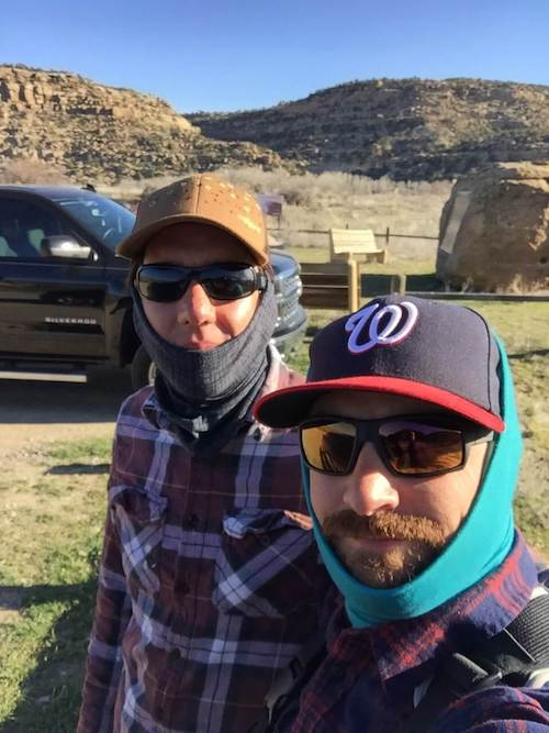 Chuck and Eric Fly Fishing New Mexico