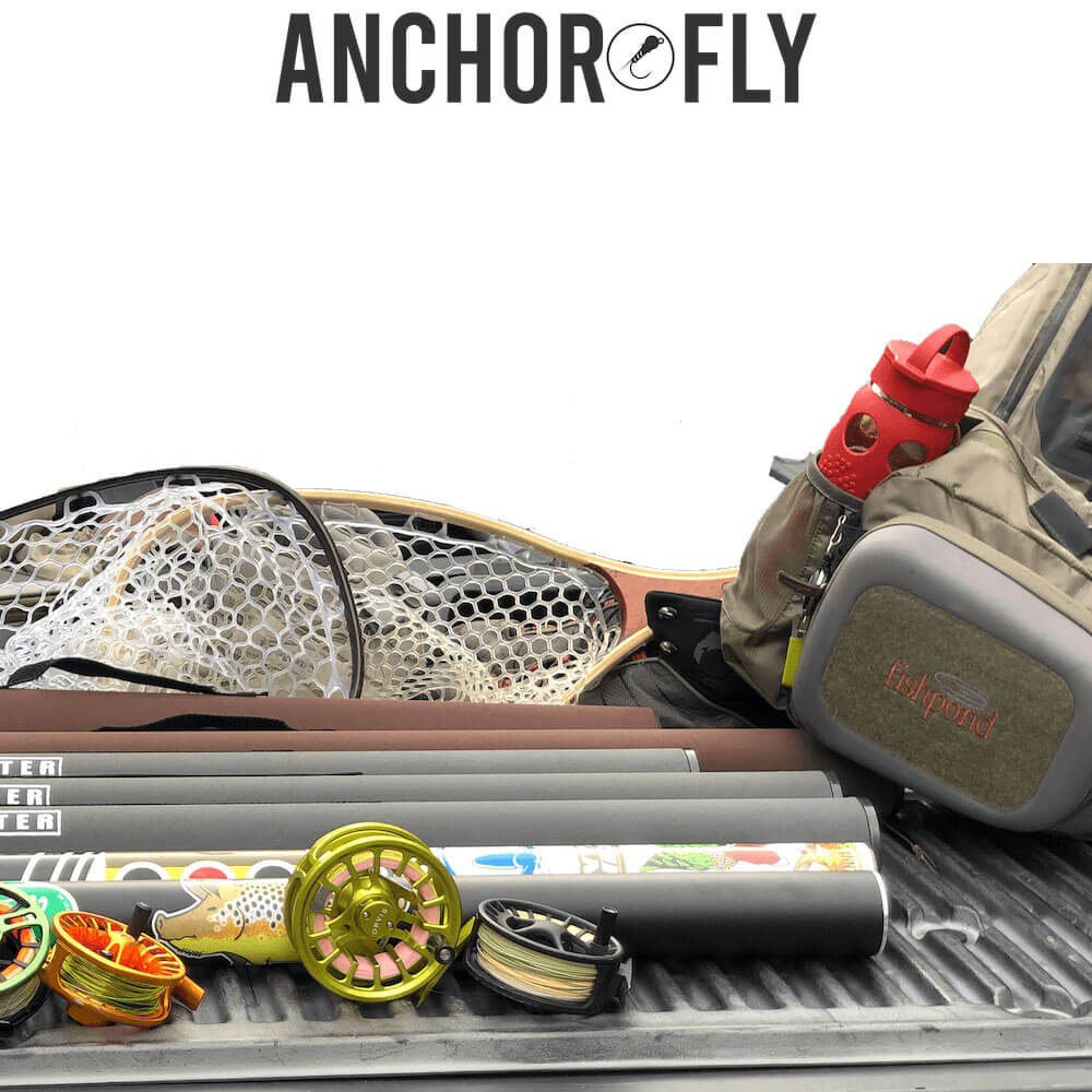 Sling pack-fly-rod-fly-reels