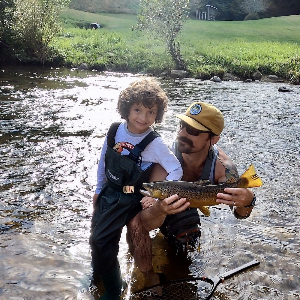 First-fish-in-kids-waders